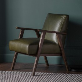 Harrington Accent Leather Chair - Two Colours Available
