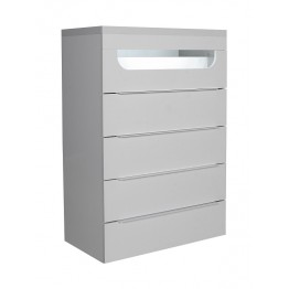 Sciae Furniture Opus 36 - No 31 tall chest with light fitting - White