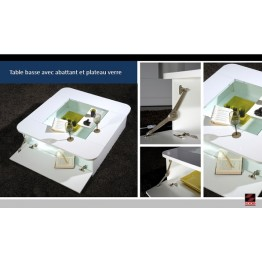 Sciae Furniture Floyd Coffee Table - 36 White - No 12 Coffee Table with Flap