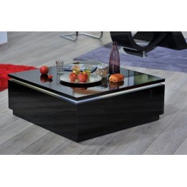 Sciae Furniture Electra 38 - Black - No 12 Coffee table with flaps