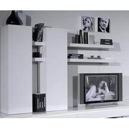 Sciae Furniture Electra 1 Door Wall Cupboard - 36 White - No 37 Suspended Element  1 Door