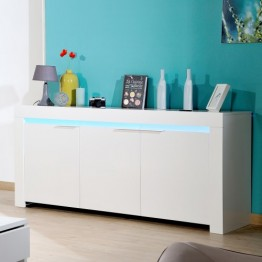 Sciae Furniture - Galaxy 2 36 - No14 Sideboard with 3 Doors and Red/Green/Blue LEDS