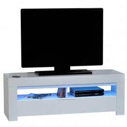 Sciae Furniture - Galaxy 2 36 - No6 TV HiFi Unit with 1 Flap and Red, Green & Blue LED lights