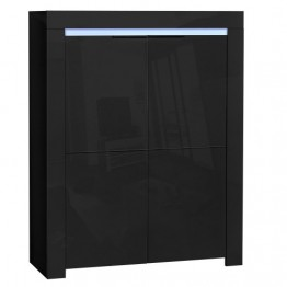 Sciae Furniture - Galaxy 2 38 - No2 Storage Unit with 2 Doors and Red/Green/Blue LEDS - Black