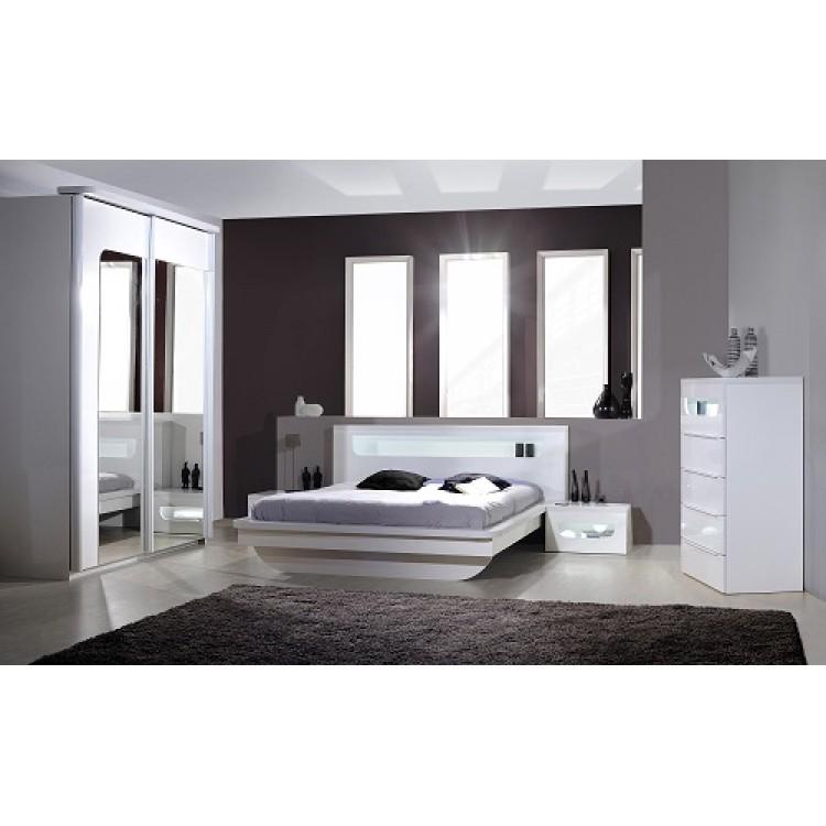 Sciae Furniture Opus 36 Wardrobe   No 27 2 Sliding Doors Wardrobe   White