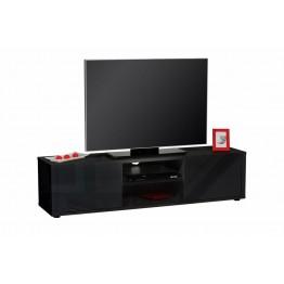 Sciae Furniture - Urbana 38 - No6 HiFi TV Bench with 2 Doors - Black