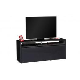 Sciae Furniture - Urbana 38 - No38 HiFi TV Bench with 3 Doors - Black