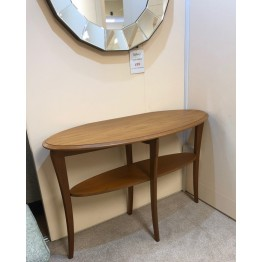SHOWROOM CLEARANCE ITEM - Sutcliffe Trafalgar Console Table  - Teak Finish