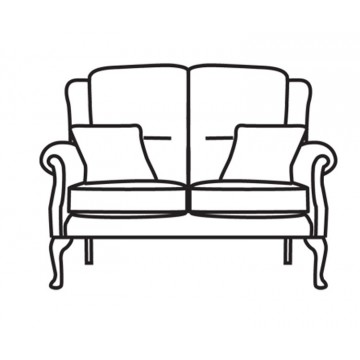 Vale Albany Legged 2 Seater Settee