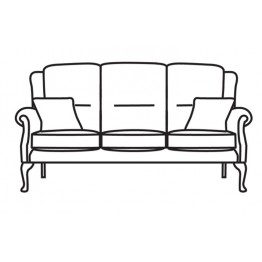 Vale Albany Legged 3 Seater Settee