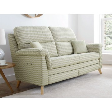Vale Opal High Back Power Reclining 3 Seater Sofa