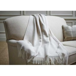 Wood Bros Sofa Throw - Beige Herringbone