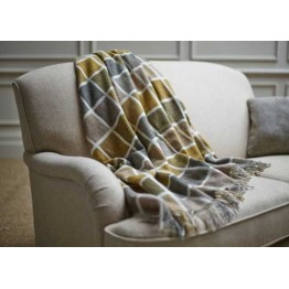Wood Bros Sofa Throw - Multiblock Mustard