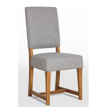 3214 Wood Bros Old Charm Dining Chair in Leather
