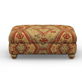Old Charm Storage Footstool - ACC1150 (Sqaure Buttoned)