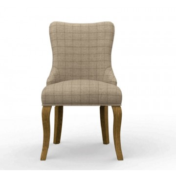 3220 Wood Bros Old Charm Bronte Wing Back Dining Chair in Fabric or Leather
