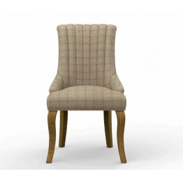 3218 Wood Bros Old Charm Darcy Channel Back Dining Chair in Fabric or Leather