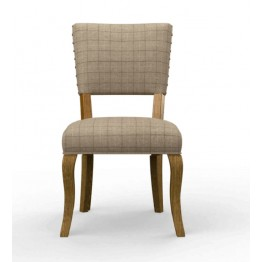 3221 Wood Bros Old Charm Heathcliff Open Back Dining Chair in Fabric or Leather