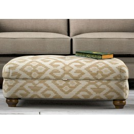 Old Charm Storage Footstool - ACC115 (Square Buttoned)