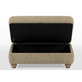 Old Charm Storage Footstool - ACC1170 (Diamond Buttoned)